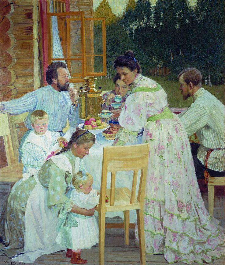 Бориса Кустодиева «На террасе», 1906